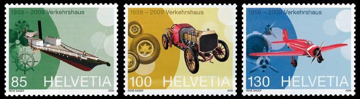 Briefmarken Verkehrshaus 2009