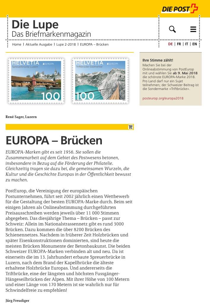 Lupe Briefmarken Brücken