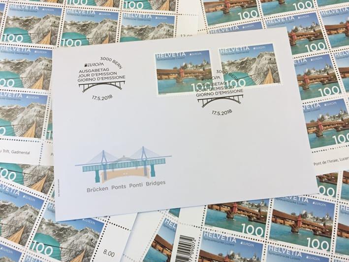 Briefmarken Brücke