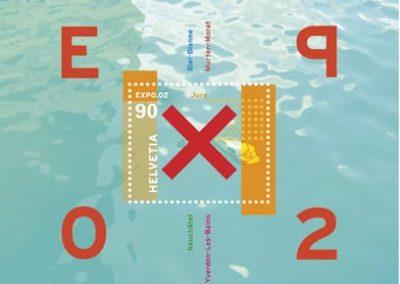 Briefmarke Expo 02 Sonderblock Jura