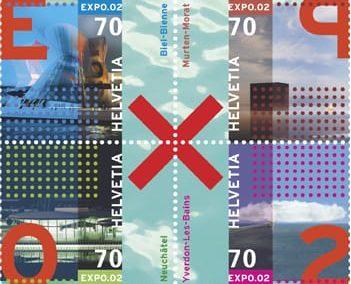 Briefmarke Expo 02 Viererblock
