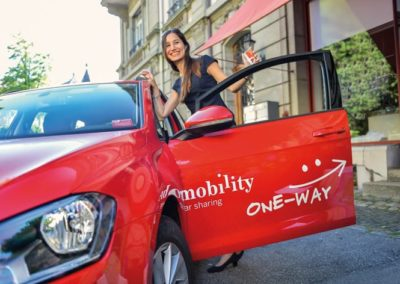 Mobility One-Way Beschriftung