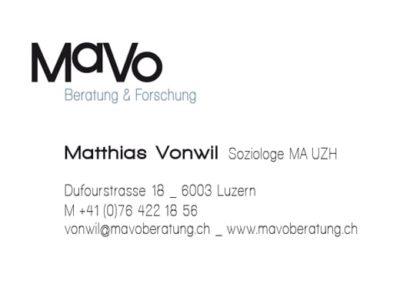 MaVo Beratung Visitenkarte Front