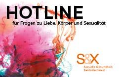 S&X Hotline Kärtchen Vorderseite