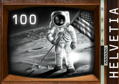 Die Post – Briefmarke Mondlandung